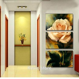 pink decorative paintings Australia - New Free Shipping 3 Piece Hot Sell Modern Wall Painting Warm Feel rose pink Home Decorative Art Picture Paint on Canvas Prints