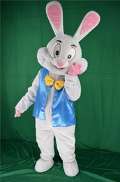 Costume Adulte Pas Cher-2016 HOT Professional Easter Bugs Bunny Mascot Costumes Bugs Rabbit Hare Adult Fancy Dress Costume de bande dessinée