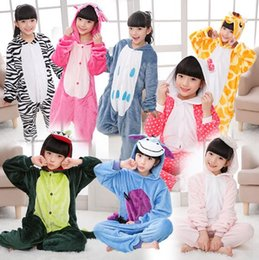 Pyjamas De Maison Pas Cher-21 Designs Kids Flannel Unicorn Pyjamas chauds Kids Pikachu Unicorn One-piece Home Cosplay Vêtements de nuit Pyjamas à point de dinosaure CCA7510 5pcs