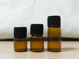 Amber glAss bottles screw online shopping - 1ml ml ml ml ml Amber Glass Bottle Essential Oil perfume Bottle with Dropper Mini Travel Size Bottle
