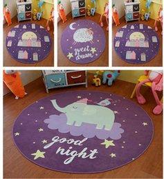 purple cartoon floor rug mats round for kids room decoration carpet living room bedroom decoration rugs customized item - Kids Bedroom Mats