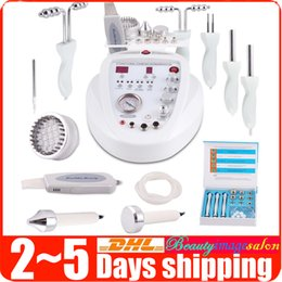 Machine À Microdermabrasion Au Diamant 5in1 Pas Cher-Nouveau 5in1 Diamond Microdermabrasion Dermabrasion Led Photon Skin Scrubber BIO Microcourant Facial Care Anti-âge Lifting Beauty Machine