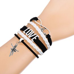 sports south 2019 - New Arrival Infinity LOVE Connect With Skating Player Sports Fitness Charm Black Pink Multi-layer Braided Bracelet Men&W