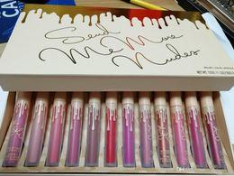 Nude matte lipstick online shopping - 2017 Hot Makeup Send Me More Nudes set Matte Lipstick Lip Gloss