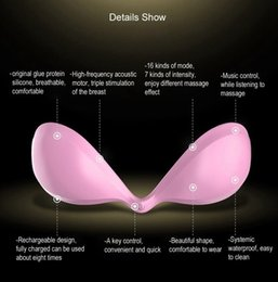 Barato Vibrador Do Massager Do Peito-16 Speed ​​Intelligent Women's Breast Enlargement Enhancer Massager APP Vibrator