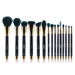 Wholesale 15 Set Foundation Makeup Blending Brush Set Cosmetics Kabuki Brush Kit Maquillage Tools Accessories Free Ship