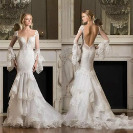 Pnina tornai trumpet wedding dresses dhgate uk pnina tornai 2017 long sleeve wedding dresses backless mermaid wedding dress lace appliqued sexy tiered skirts trumpet beach bridal gowns junglespirit Choice Image