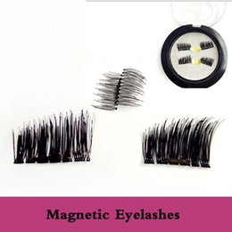 Plastic Black Magnets Canada - MOQ 3Boxes 3D Magnetic False Eyelashes Soft Think Black New Magnet Fake Eyelashes Magnetic Eyelashes Dropship full handmade handtied
