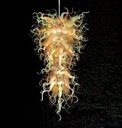 $enCountryForm.capitalKeyWord Australia - Contemporary Fancy Chandalier Crystal Pendant Light for Home Hotel Lobby Style Hand Blown Glass Italian Designed Chandelier