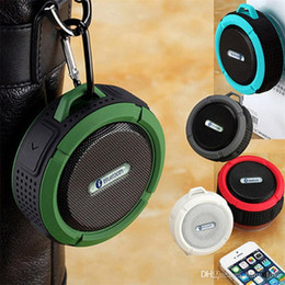 Suction Speakers NZ - C6 Speaker Bluetooth Speaker Wireless Potable Audio Player Waterproof Speaker Hook And Suction Cup Subwoofer Stereo Music Player