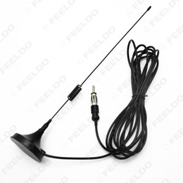 car radio antenna mount UK - wholesale Car Universal Magnetic Base Roof Mount Radio AM FM Aerial Antenna #2606