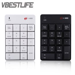 2017 laptop keypad keyboard VBESTLIFE 2.4GHz Wireless Keyboard USB Numeric Keypad Numpad Number 18 keys Pad For Laptop PC Black White New Free Shipping
