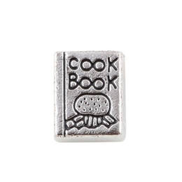 Books Live Canada - 20pcs lot Free shipping Antique Tibetan Silver Charms Cook Book For Floating Living Memory Locket