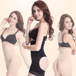 Grossistes En Gros Pas Cher-Vente en gros- Sexy High Waist Femme Butt Lift Spirale Acier Bone Slimming Body Butt Lift Shapers Boxer Sous-vêtements avec Tummy Control -MX