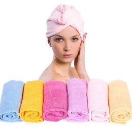 Hair Driers UK - Magic Quick-Dry Hair Towel Hair-drying Ponytail Holder Cap Towel Lady N Microfiber Hair Towel Hot Sale Women Towel for Hair