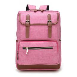 $enCountryForm.capitalKeyWord Canada - Vintage Fashion Women Backpack Bag High School Flap Boys Girls Schoolbag KOREA Shoulder Bag Pink Wholesale free shipping