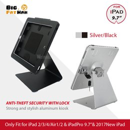 $enCountryForm.capitalKeyWord Canada - Desktop display For iPad2 3 4 air Pro 9.7 Anti-theft table Stand Enclosure Security with Lock tablet holder Multi-angle rotation
