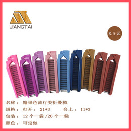 $enCountryForm.capitalKeyWord Canada - JT9851 factory direct selling popular American folding comb hair comb portable comb can be printed LOGO