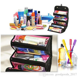 Barato Sacos De Higiene Para Mulheres-ROLL-N-GO Cosmetic Bag Tv Best Selling Women Makeup Bag 2 cores Doce Toiletries Organizer Bag com OPP Packing S011