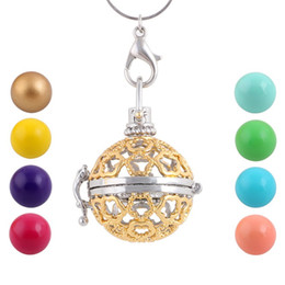 $enCountryForm.capitalKeyWord Australia - 10pcs lot Fashion Floating Locket Pendant Necklace Pregnancy Chime Ball Harmony Bola Pendant for Pregnant Women Baby Angel Caller