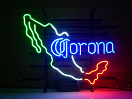 "corona beer neon sign Australia - 17""x14"" CORONA EXTRA MEXICO Beer Pub Bar Store Real Glass Neon Light Sign Tavern Display Wall Lighting"