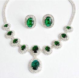 $enCountryForm.capitalKeyWord NZ - green*champagne color diamond stone wedding bride lady's set necklace earigns