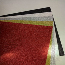 Sky Box Card Canada - China sell direct wholesale glitter card stock color paper 12x12 inch