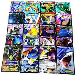 Game cards pokemon online shopping - 60PCS set Poke game Cards Set Bulk Playing Games Toys Free DHL XY Mega Exs Poke ball English Flash Cards Kids toy B001