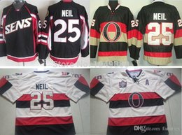 787acee67 Wholesale 2016 Ottawa Hockey Jerseys  25 Chris Neil Jersey Black Heritage  Outdoor Game Men s Cream Stitched Neil Jerseys Cheap