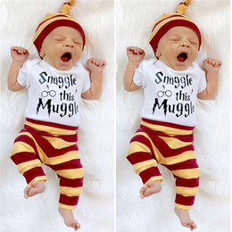 d78fc57764cb3 INS baby jersey suit spring and autumn 0-2 year old baby clothes 3 sets of  European and American striped children go out suit