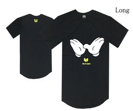 wu tang clothes UK - Long style wu tang black t shirt yellow bat logo hip hop t-shirts summer clothes men tees cotton fashion