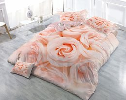 customized bedding sets Australia - Custom Drawings Can be Customized 3D Romantic Rose Cotton Satin 4-Piece Duvet Cover Sets Bedding Sets