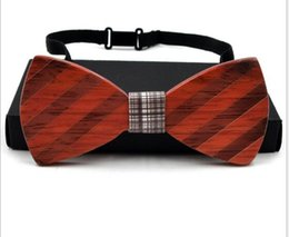 $enCountryForm.capitalKeyWord Canada - Unique Handcrafted Mens Wooden Bow Ties Neck Custom Designer Europe America Style 8 Styles Handmade for Wed Gift Wenge Rosewood Wholesale
