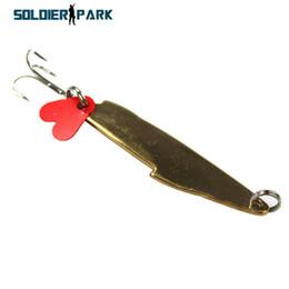 Spoon Hooks Wholesale NZ - 3pcs lot Fish Lure Metal Lure 9CM Artificial Bait Spoon Lure Long Shot Ocean Hard Bait Spinner Bait Fishing with Treble Hook order<$18no tra
