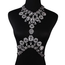 China Women Sexy Multi Crystal Statement Body chain Jewelry Waist Bikini beach Belly chains Chunky necklaces&pendants night Club party accessories suppliers