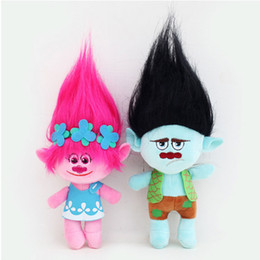 freezing figure NZ - Action 4Pcs  Set 23Cm Trolls Cartoon Movie &Tv Figure Plush Dolls Trolls Doll Toys Fashion Doll Children Gift In -Stock Items