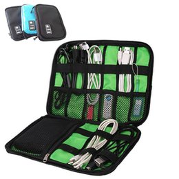 Battery Storage Organizer Canada - USB Storage Cable Organizer Bag for Tool Batteries Pen Makeup Earphone Travel bag Free Shipping