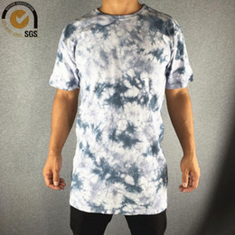 $enCountryForm.capitalKeyWord Canada - Wholesale-Mens Washed T Shirt Vintage Style Long Washed Tees Casual Fitting Washed Retro T Shirt for Men Tie Dye T Shirts Men
