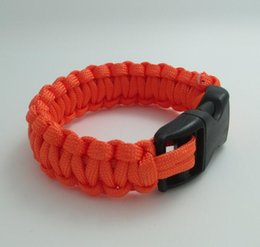 Discount life saving bracelet Outdoor mergency use survival Bracelet Survival Escape Life-saving Bracelet Paracord Hand Made With Plastic Buckle for 2