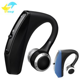 Bluetooth handsfree voice online shopping - V12 Business Bluetooth Headset Wireless Handsfree Office Bluetooth Earphones Headphones with Mic Voice Control Noise Cancelling