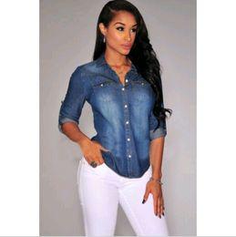 jeans color shirt for women online | jeans color shirt for women