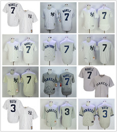 online store b4a30 87f47 clearance mitchell and ness yankees 3 babe ruth grey ...