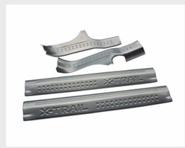 Door sill plate for nissan online shopping - For Nissan X trail x tail Stainless Steel Door Sill Protector Thresholds Scuff Plate Guards Sills trim
