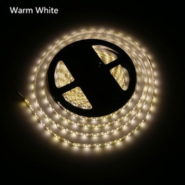 Discount light wire ribbon Warm white led strip light led ribbon 3528 SMD 5M waterproof flexible 60led M connector 2A power supply Stage Party Chri