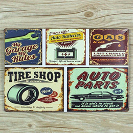 """Vintage Car Prints NZ - NEW arrival """" tire shop and car gas """" 0243 metal vintage tin signs home decorative plates wall art craft bar poster 20X30cm"""