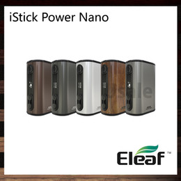 vaping box Canada - Eleaf iStick Power Nano 40W TC Box Mod 1100mah Battery VW Bypass Smart TC Vaping Modes Dual Circuit Protection 100% Original