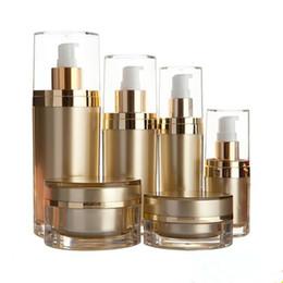 Wholesale 15 30 60 120ml skin care bottle plastic acrylic cream lotion container bottle,high quality cosmetics packaging acrylic jar F20172205