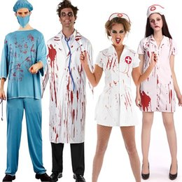 free halloween party cosplay horror clothes bloody scary girl nurse costume dress and doctor clothes