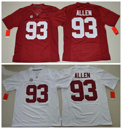 326128efe 2016 New Style College Alabama Crimson Tide Jerseys #93 Jonathan Allen  Jersey Red White Stitched NCAA College Football Jerseys · Nike ...