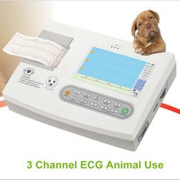 бесплатная доставка животных использовать три канала 7in ЭКГ / ЭКГ, собака, шланг, кот электрокардиограф, ветеринарная машина